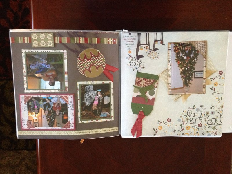 Home for the Holidays layout Pgs 1-2