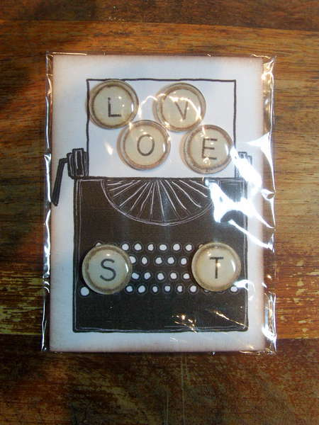 Some Embellishments I have made for myself or to sell - Typewriter key embellishment bubbles