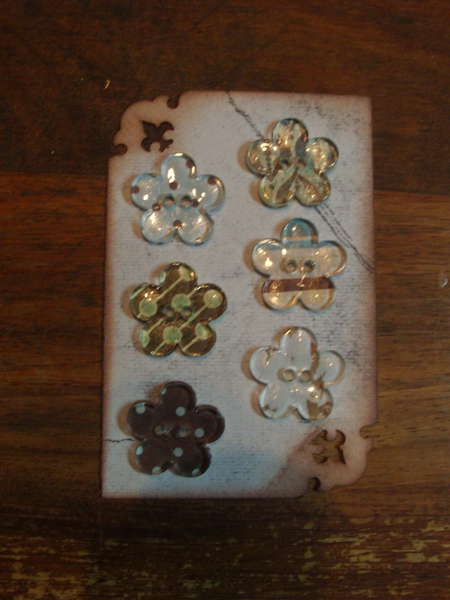 Some Embellishments I have made for myself or to sell - Flower epoxy buttons