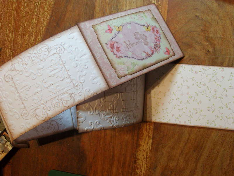 Some Embellishments I have made for myself or to sell - Accordion Mini Album Open