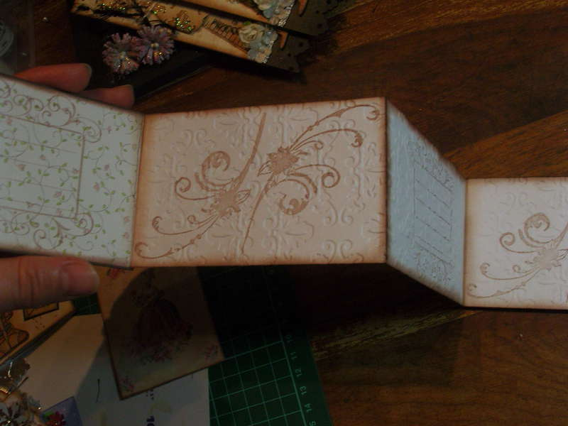 Some Embellishments I have made for myself or to sell - Accordion Mini Album close up of pages