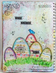 Easter Blessings Art Journal page