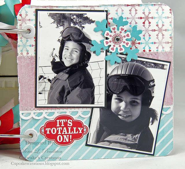 snow day ski mini album page 8