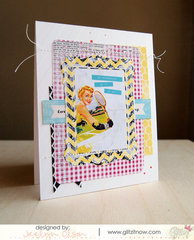 Retro Girly Note Card Set