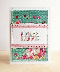 Love Pocket Shaker Card
