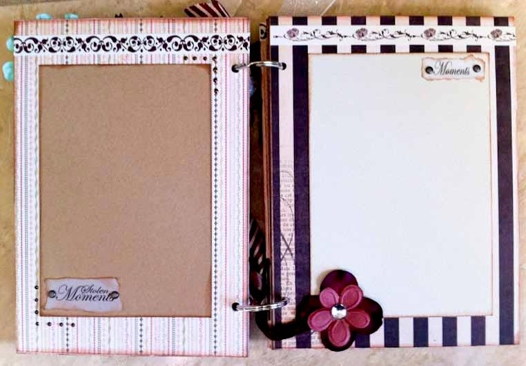 Love Chipboard Mini Album - Inside Pages