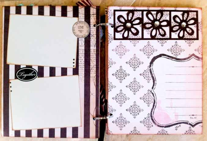 Love Chipboard Album - Inside Pages