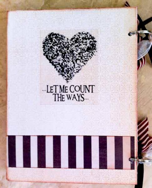 Love Chipboard Mini Album - Back Page