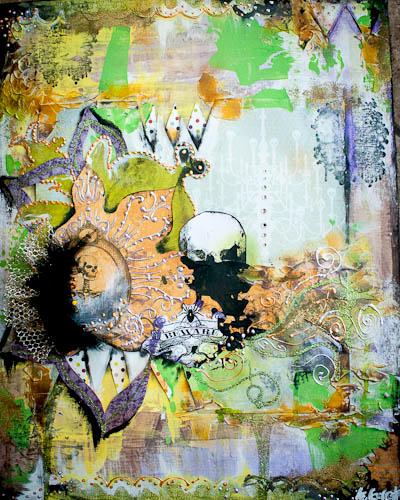 """""""Hocus Pocus"""" Mixed media canvas"""