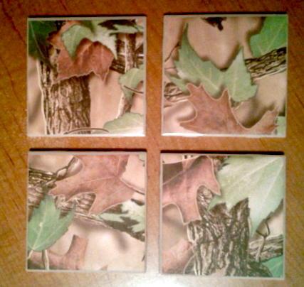 CAMO    Tile Coaster set of 4