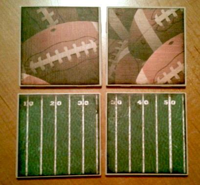 FOOTBALL  Tile Coaster set of 4