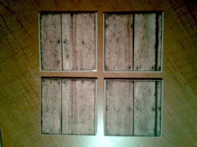 PLANK Tile Coaster set of 4