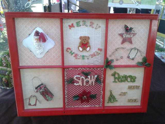 Christmas window decor