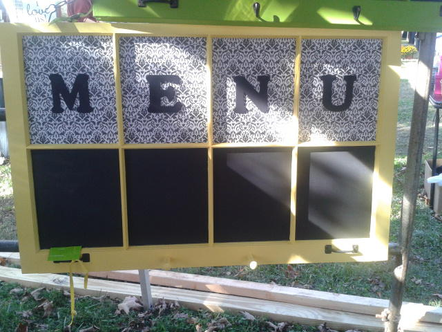Menu sign window decor