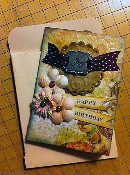 Birthday Card Tag Folder