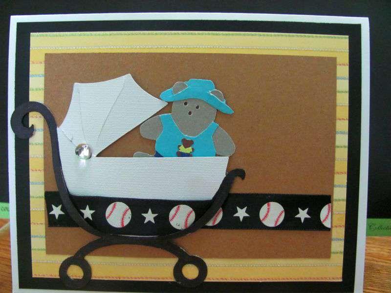 Blank baby card