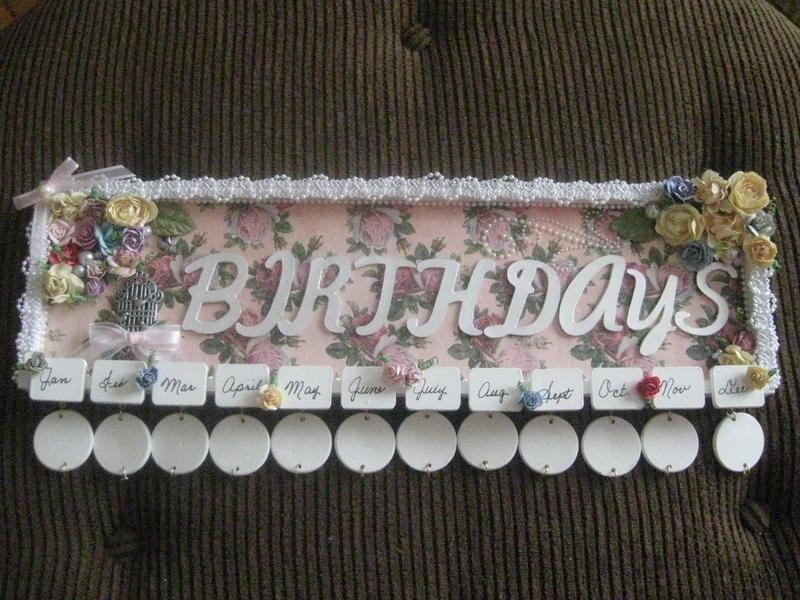 Birthday Plaque for Martica's swap