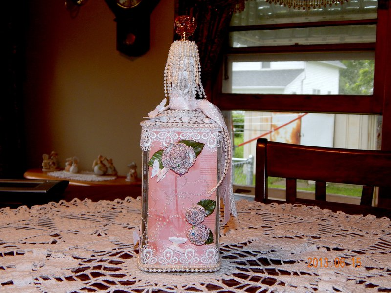 Altered Bottle for Martica's swap