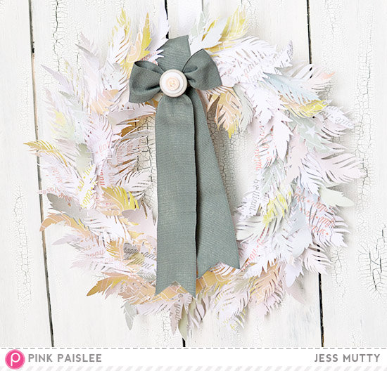 Feather Wreath *Pink Paislee*