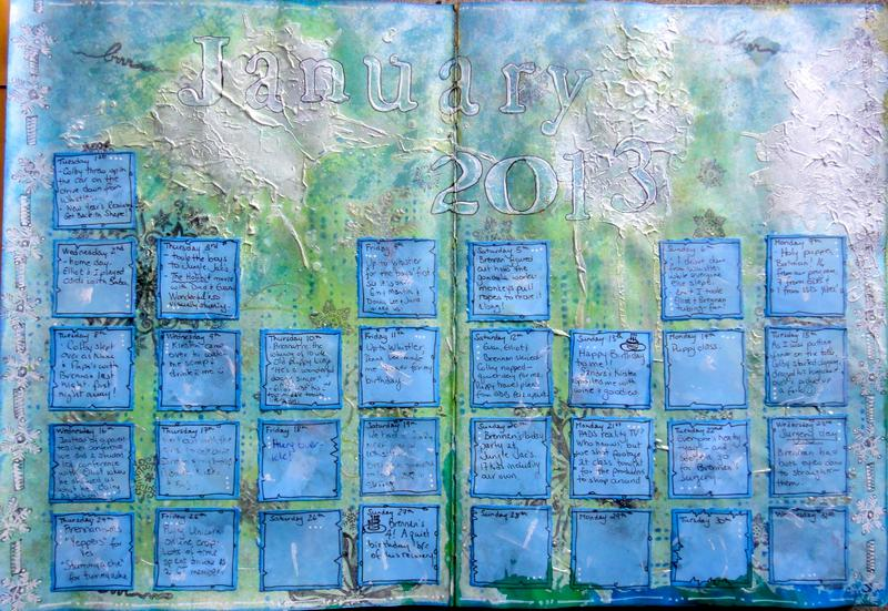 Art Journal Calendar Tutorial : Other art journal calendar page