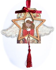 Crackled Starr Ornament/Tag