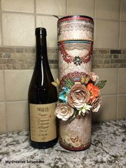 Wine Bottle Gift Holder *** My Creative Scrapbook ***