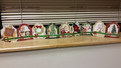 Christmas shelf decoration