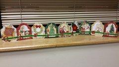 Christmas shelf decoration