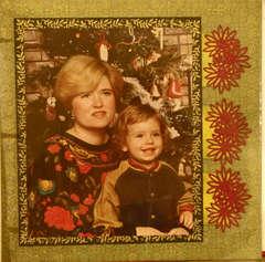 Ryan and Mom Christmas 1991