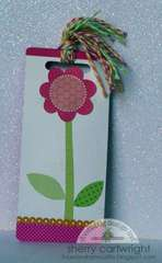 upcycled bookmark : girl