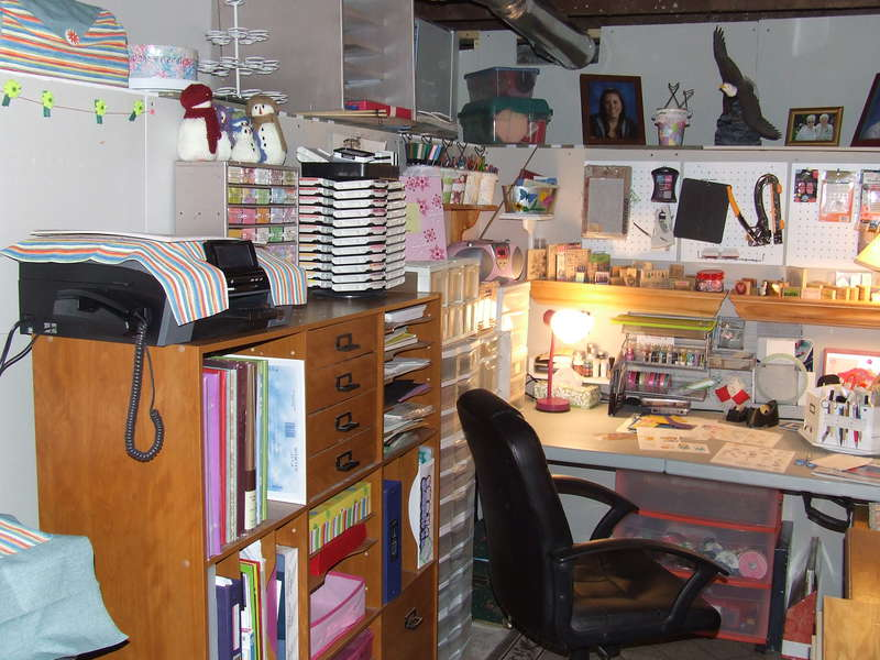 New Scrapbooking Area (In the basement)