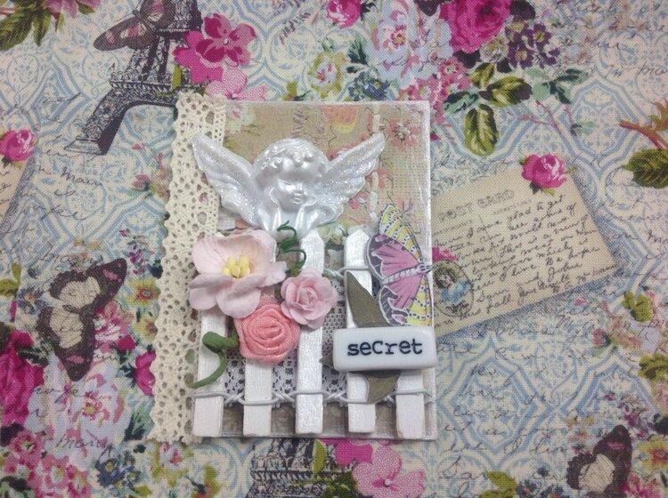 Angel secret garden atc