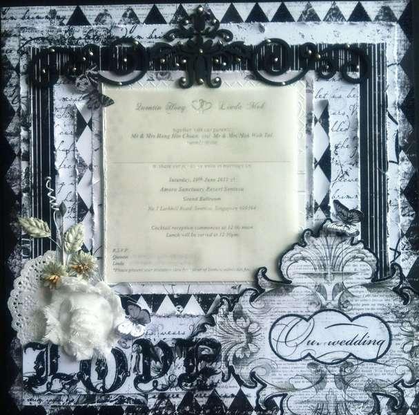 Wedding invitation card layout