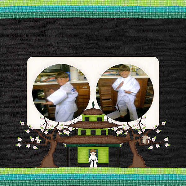 Pandas and Pagodas by 4 My Babies Scraps LO1