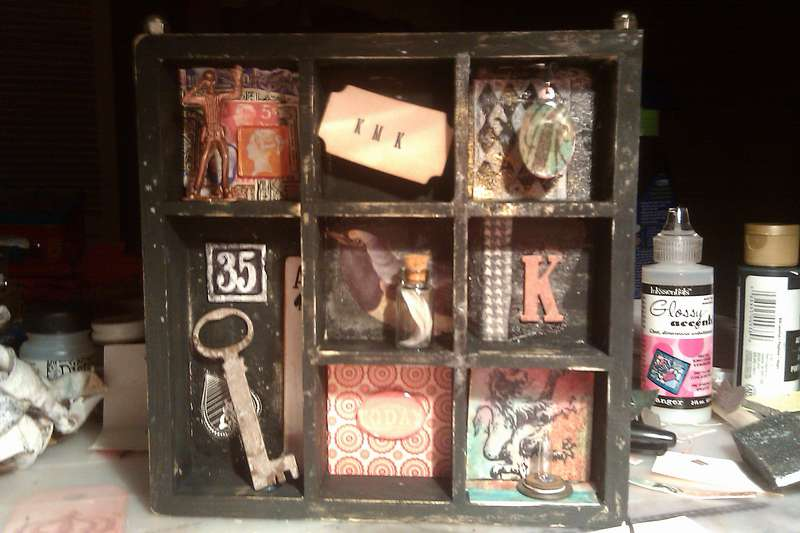 My Dollar Tree version of a Tim Holtz Configurations Box