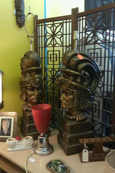 Kory's Infamous Aztec Warrior Lamps