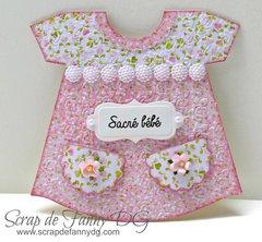 Dress baby card