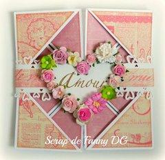 Valentin's napking card
