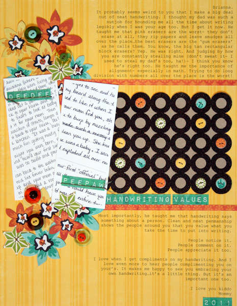 handwriting {studio calico: october kit}