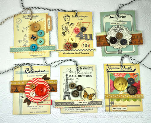 Studio Calico Dec BROOKLYN FLEA kit - Button Card Gift Tags