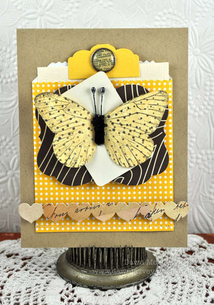 Studio Calico February Daydream Believer Kit - Butterfly Notecard