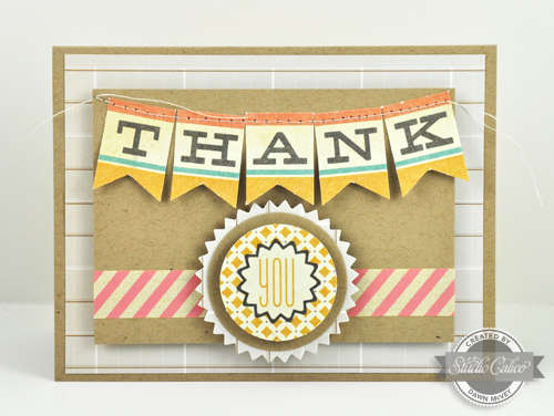 Studio Calico August Summer of '69 Kit - Thank You Banner