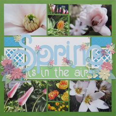 Spring is in the Air  (embellished page)