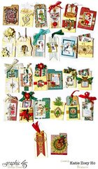 Christmas Advent Calendar Tags in Box