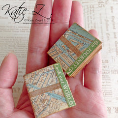 Travel Map Mini Handbound Books