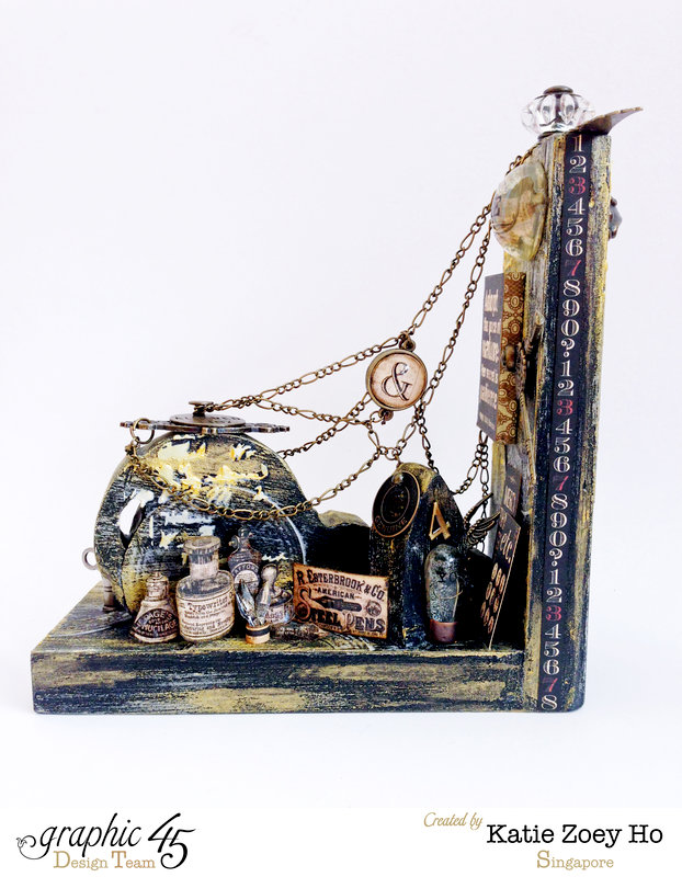 Typographic Grunge Altered Bookend