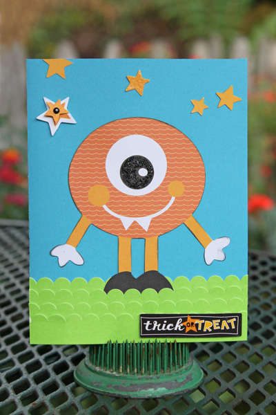 Trick or Treat Monster Card