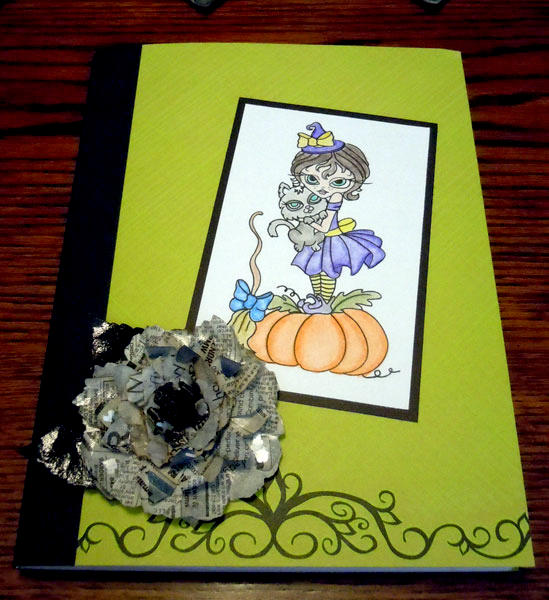 Altered Journal with Witchy Susie