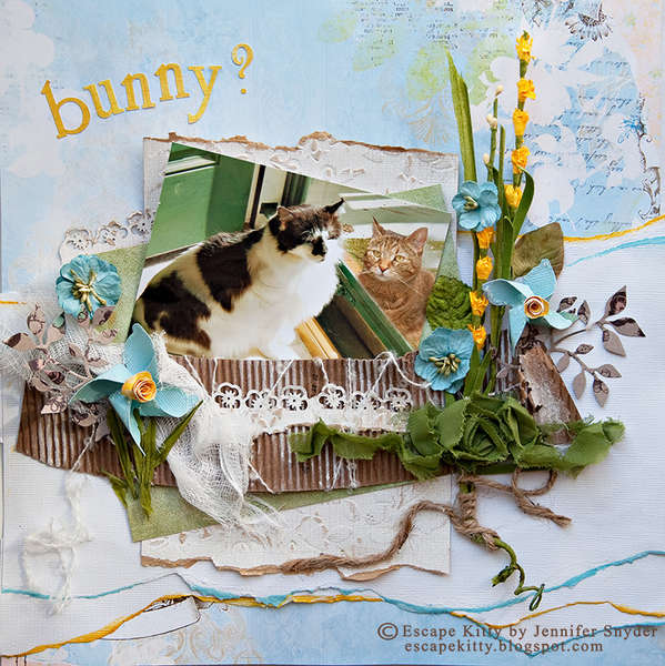 Escape Kitty - Surprise!  Is this the Easter Bunny? - Scraps of Elegance, CSI #13