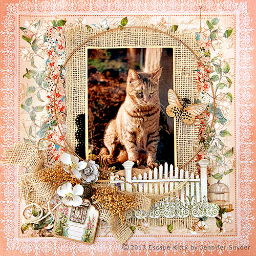 Escape Kitty - Chasing Butterflies - Scraps of Elegance